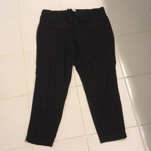 Lou & Grey Black Linen Pants - Size L